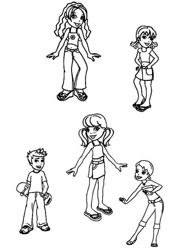 polly pocket and friends coloring pages bulk color