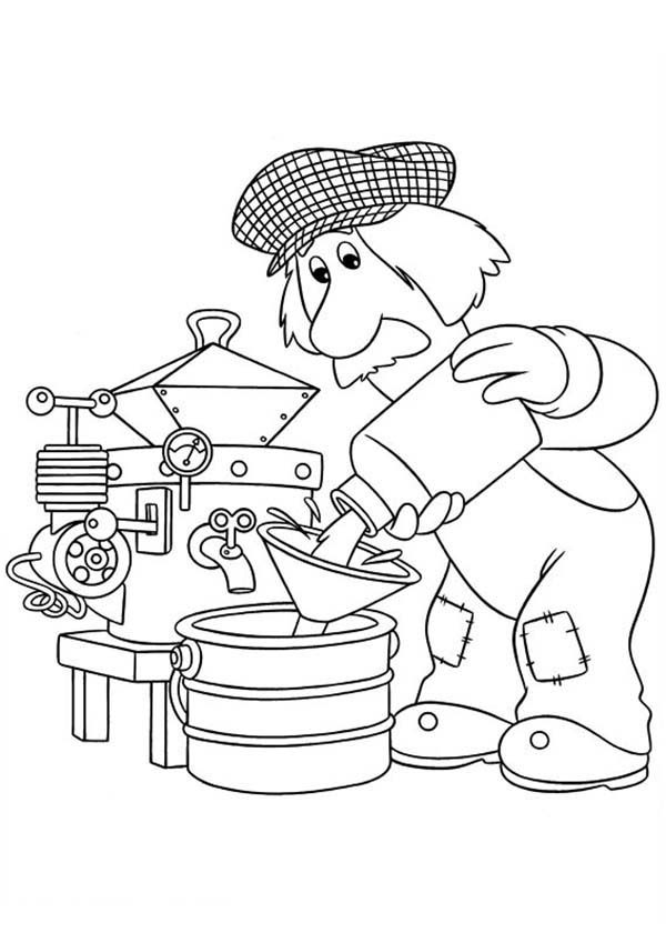 Postman Pat, : Postman Pat Making Milk Coloring Pages