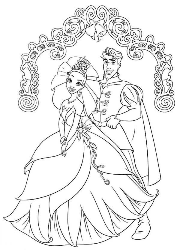 Princess Tiana And Prince Naveen Coloring Pages 31781 ...