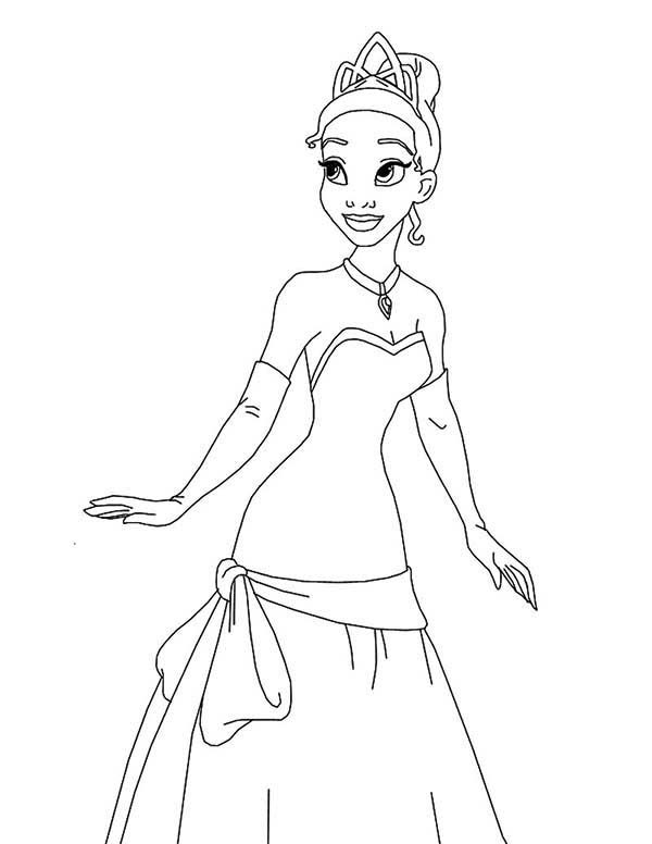 Princess and the Frog, : Princess is so Adorable in Princess and the Frog Coloring Pages