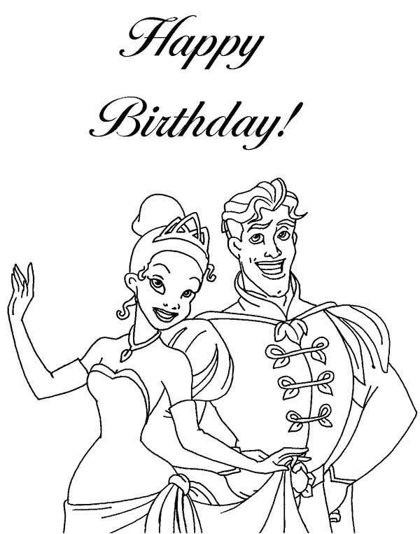 Princesses Birthday, : Ready to Leave for Princesses Birthday Party Coloring Pages