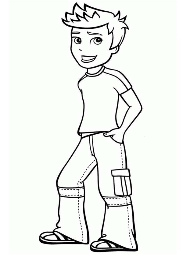 Polly Pocket, : Rick Making Pose in Polly Pocket Coloring Pages