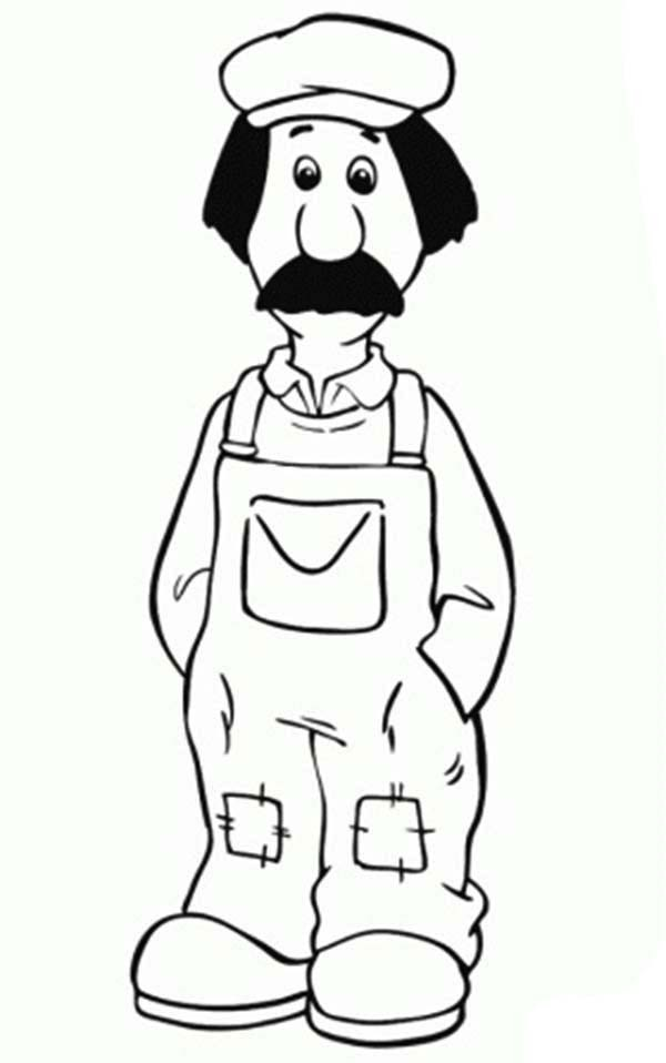 postman pat ted glen is the handyman from postman pat coloring pages