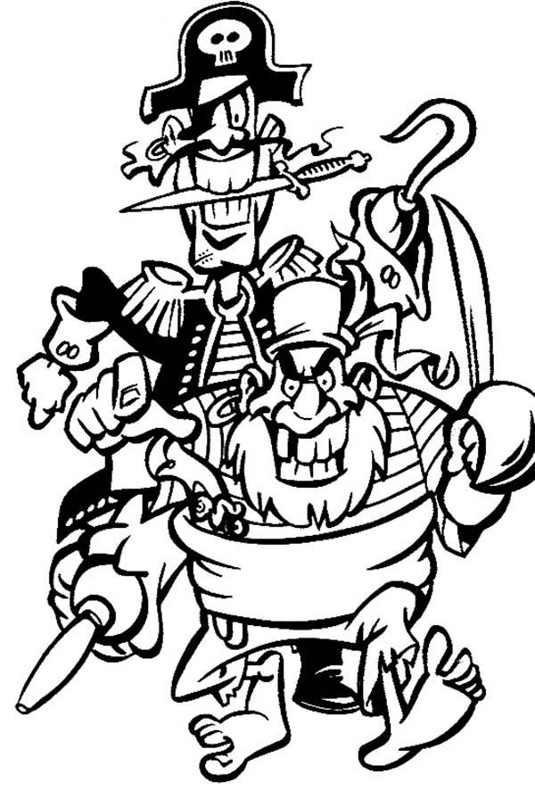 Pirates, : Terrible Pirate Coloring Pages