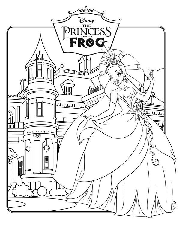 Princess and the Frog, : Walt Disney Princess and the Frog Coloring Pages