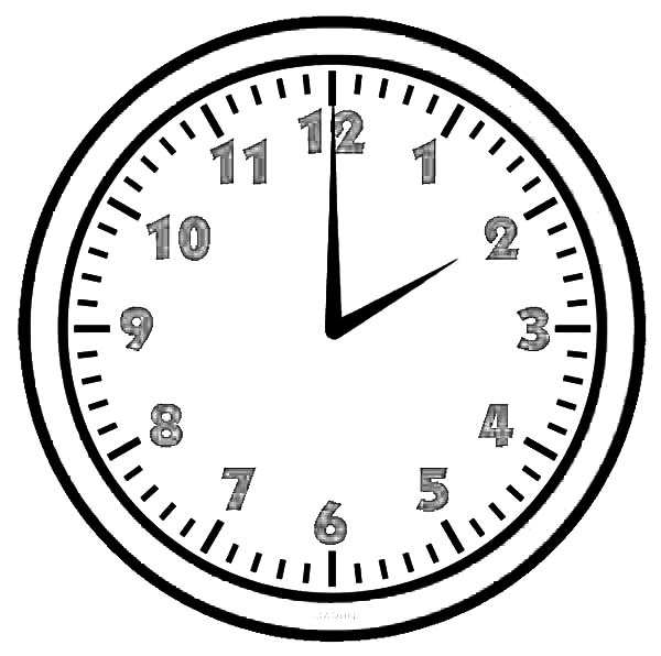 02 Clock On Analog Coloring Pages
