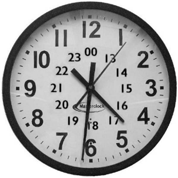 Analog Clock, : 24 Hours Analog Clock Coloring Pages