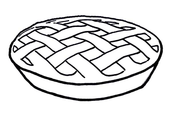 Apple Pie, : A Delicious Apple Pie Coloring Pages