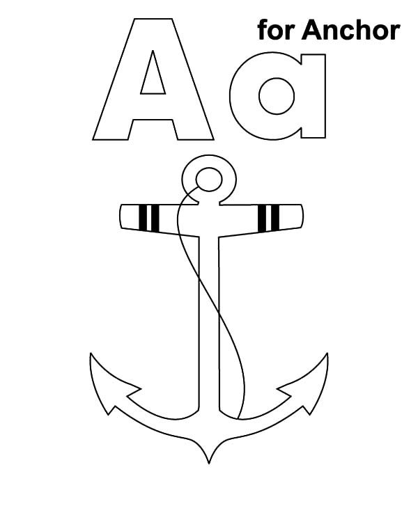 Anchor, : A is for Anchor Coloring Pages