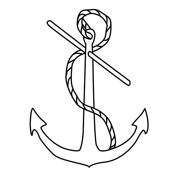 Anchor, : Admiralty Anchor Coloring Pages