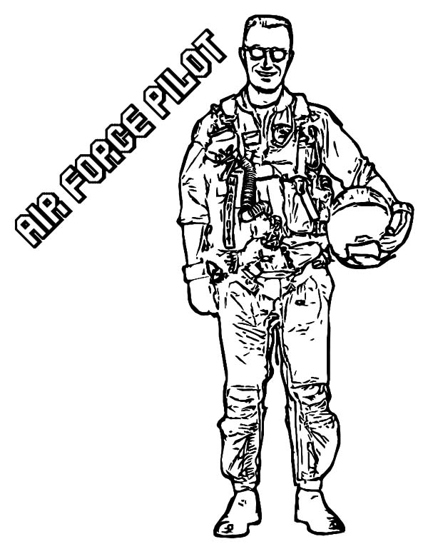 air force pilot army coloring pages