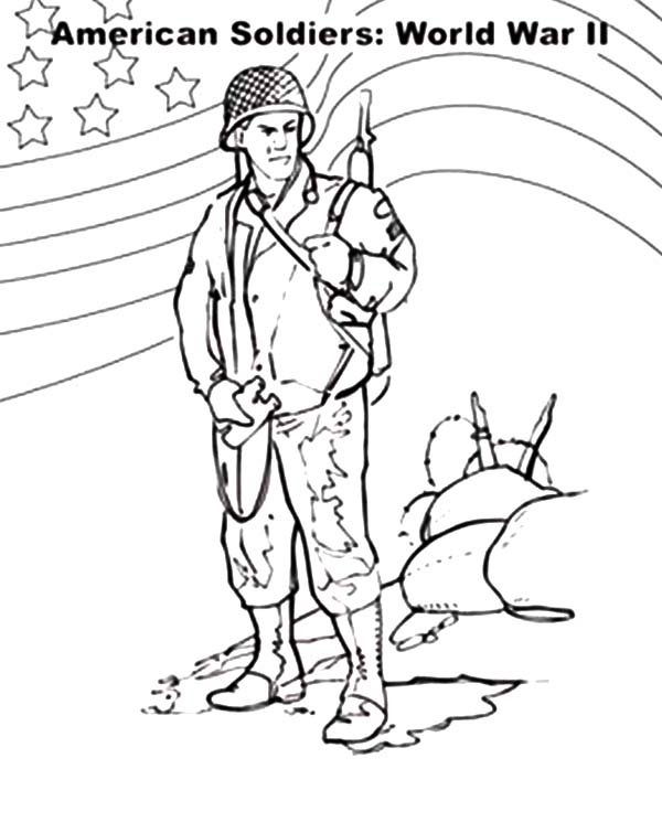 American Army Soldier Coloring Pages American Army Soldier