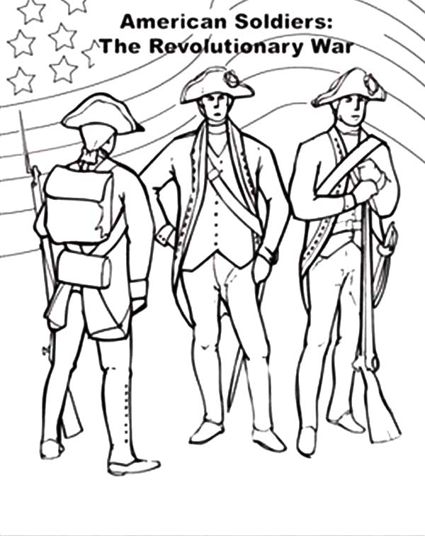 American Revolution Flag, : American Revolution Flag on Revolutionary War Coloring Pages