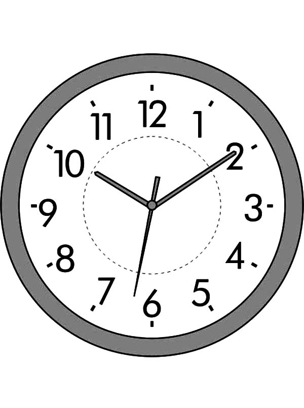 Analog Clock, : Analog Clock Coloring Pages for Kids