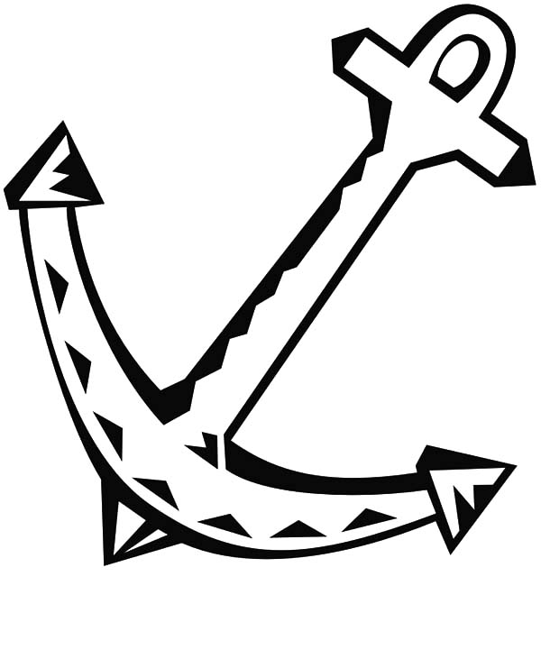 Anchor, : Anchor Clip Art Coloring Pages