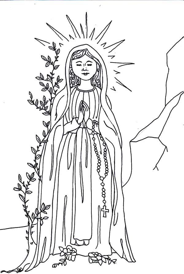 Angel Appears To Mary, : Angel Appears to Mary the Birth Mother of Jesus Coloring Pages