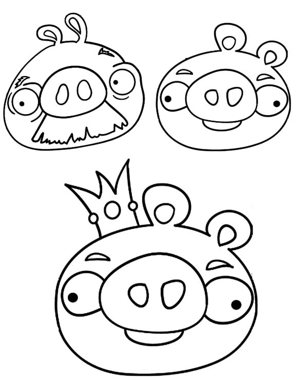 Angry Bird Pigs, : Angry Bird Pigs Coloring Pages for Kids
