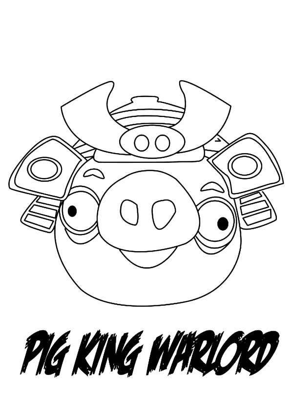 Angry Bird Pigs, : Angry Bird Pigs King Warlord Coloring Pages