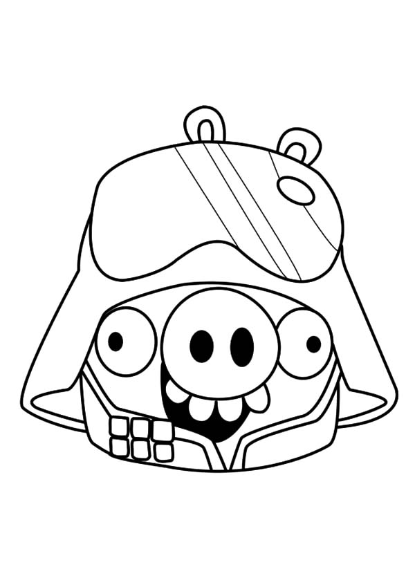 Angry Bird Pigs, : Angry Bird Pigs Star Wars Coloring Pages