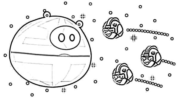 Angry Bird Pigs, : Angry Bird Pigs Star Wars Theme Coloring Pages