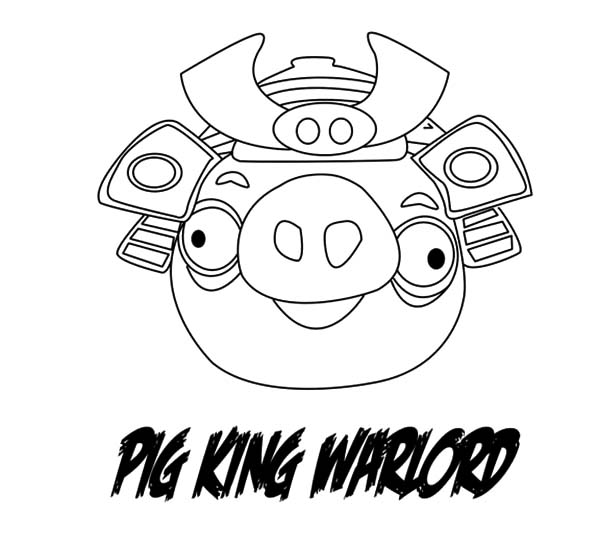 Angry Bird Pigs, : Angry Bird Pigs Warlord Angry Coloring Pages