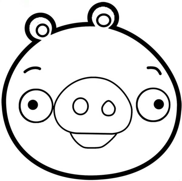 Pig mask coloring page sketch coloring page for Angry bird pig template