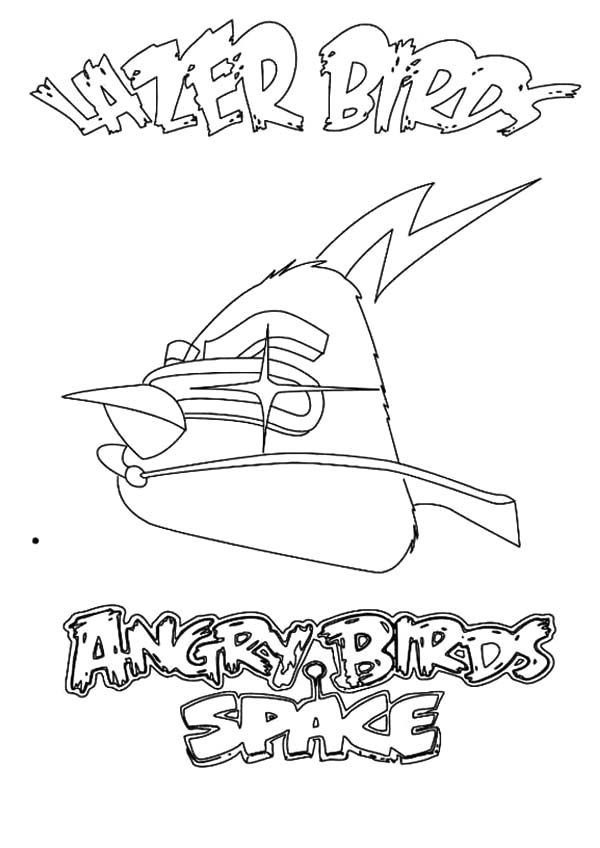 Angry Bird Space, : Angry Bird Space the Lazer Birds Coloring Pages