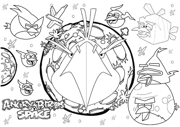 Angry Bird Space, : Angry Bird Space the Movie Coloring Pages