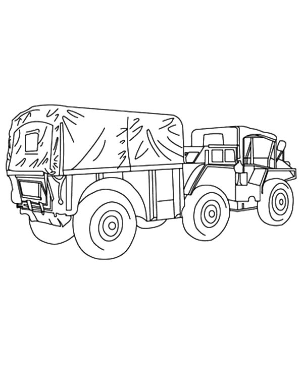 Army Car, : Army Car Coloring Pages for Kids