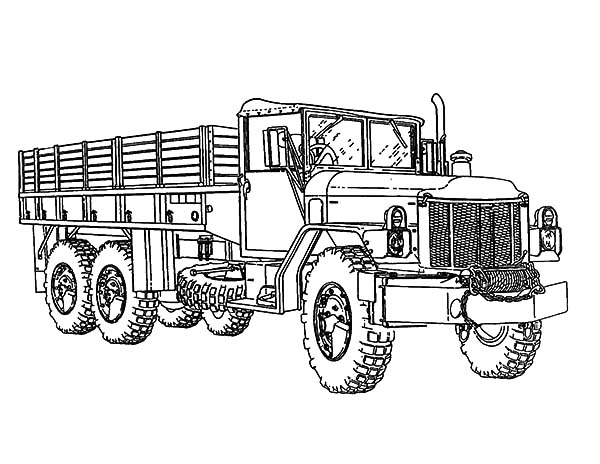 Army Car Soldier Carrier Coloring Pages  Bulk Color