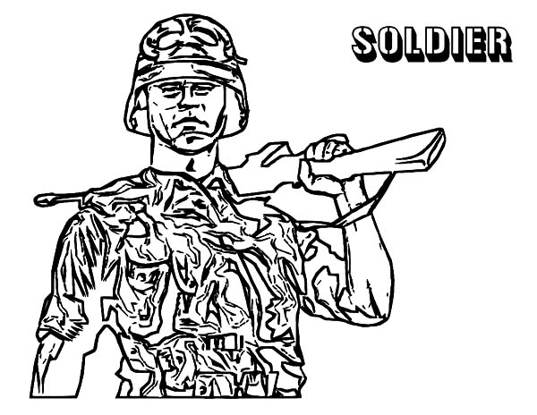 Army, : Army Stand Guard Coloring Pages