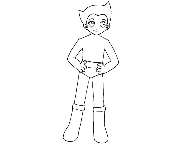 Astro Boy, : Astro Boy Outline Coloring Pages