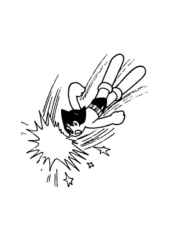 Astro Boy, : Astro Boy Strike Coloring Pages