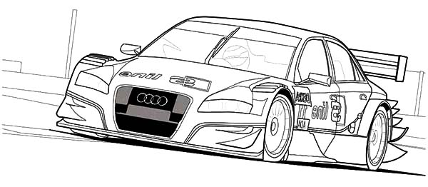 Audi Cars, : Audi Cars A4 DTM Coloring Pages