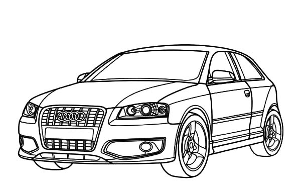 Audi Cars, : Audi Cars S3 Series Coloring Pages