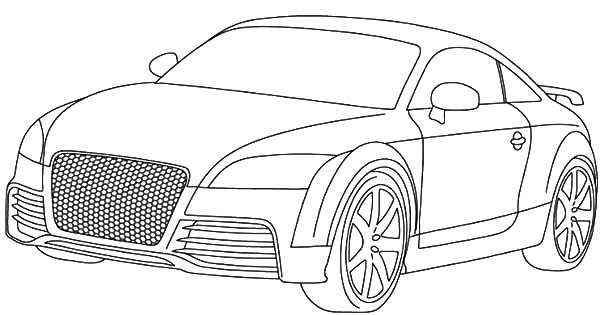 Audi Cars, : Audi Cars TT Type Coloring Pages