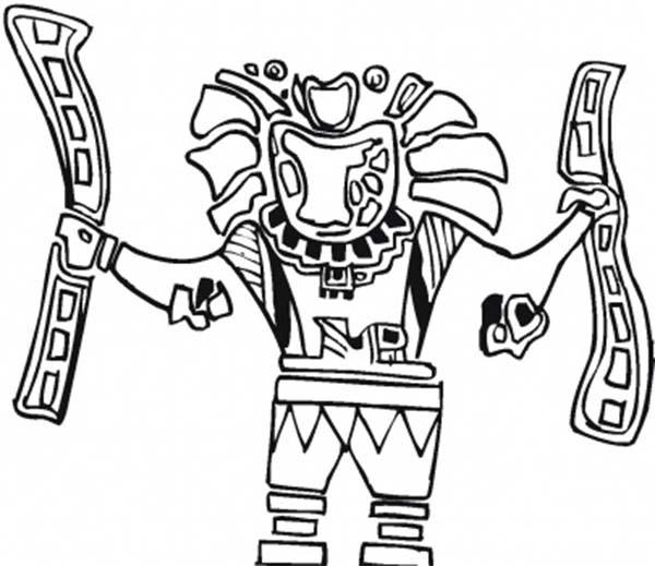 Aztec, : Aztec Eagle Warrior Coloring Pages