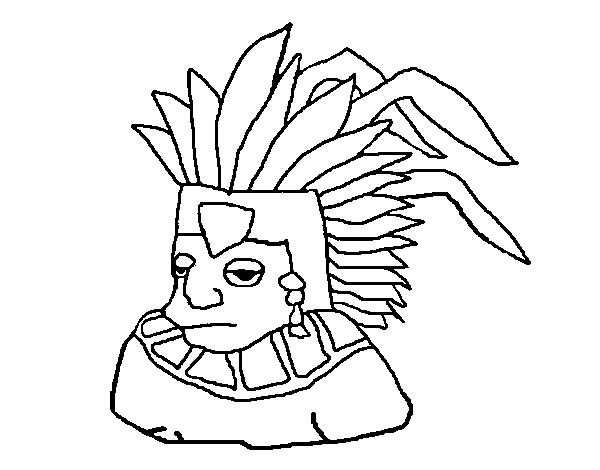Aztec, : Aztec Tlatoani Coloring Pages