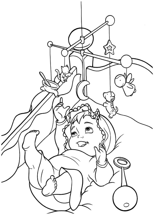 Babies, : Babies Play Activity Gyms Coloring Pages