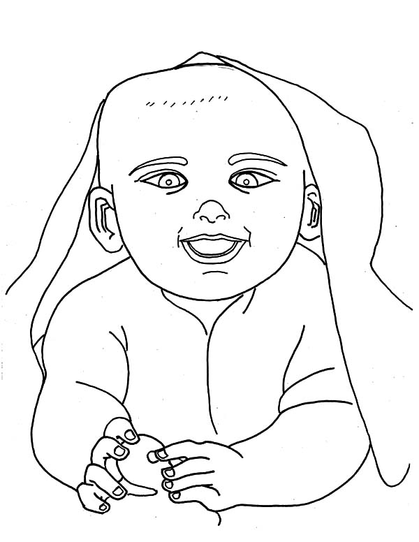 Babies, : Babies Under His Blanket Coloring Pages