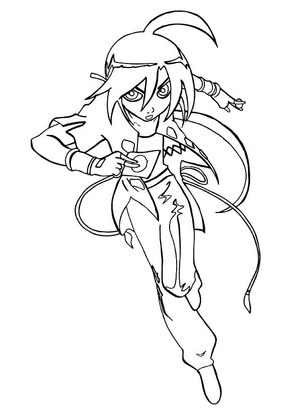 Bakug, : Bakug Bakugan Character Shun Coloring Pages