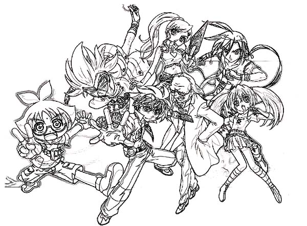 Bakug, : Bakug Bakugan Characters Coloring Pages