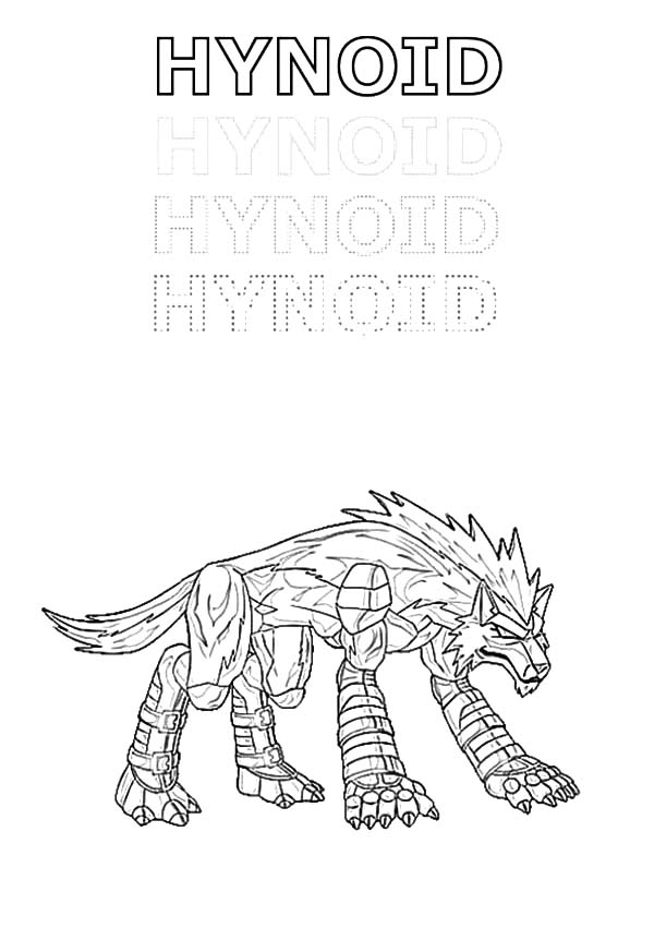 Bakug, : Bakug Bakugan Hynoid Coloring Pages