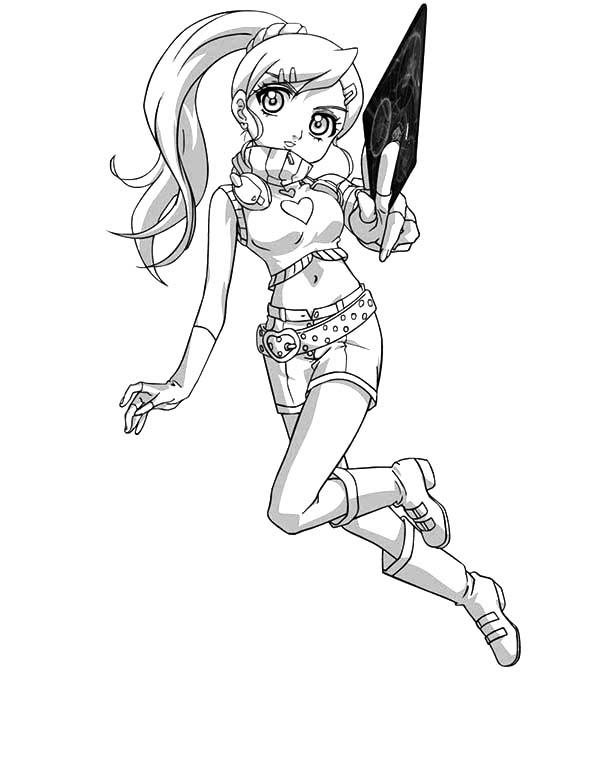 Bakug, : Bakug Bakugan Julie's Attack Coloring Pages