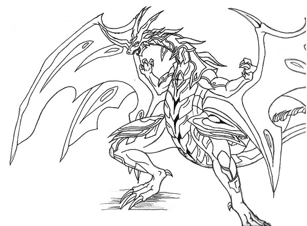 Bakug, : Bakug Bakugan New Drago Coloring Pages