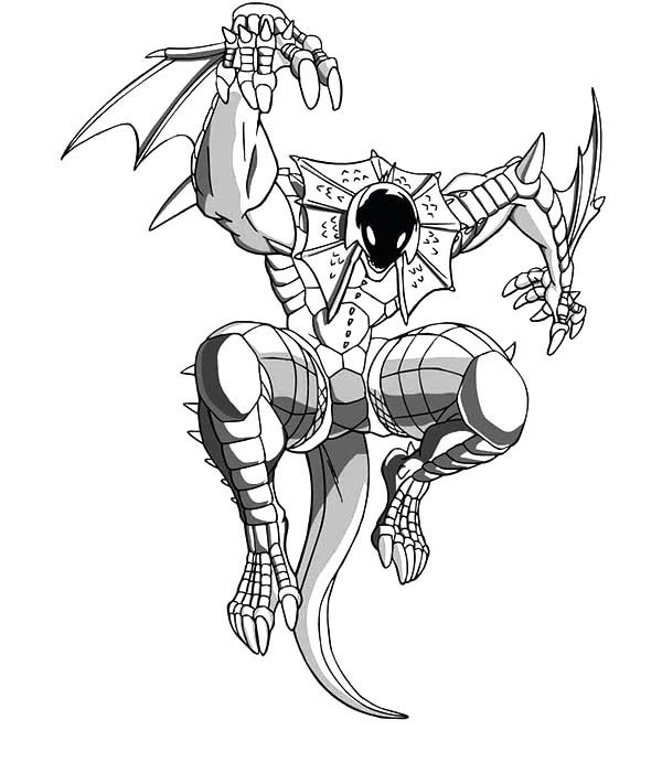 Bakug, : Bakug Bakugan Sharp Claws Coloring Pages