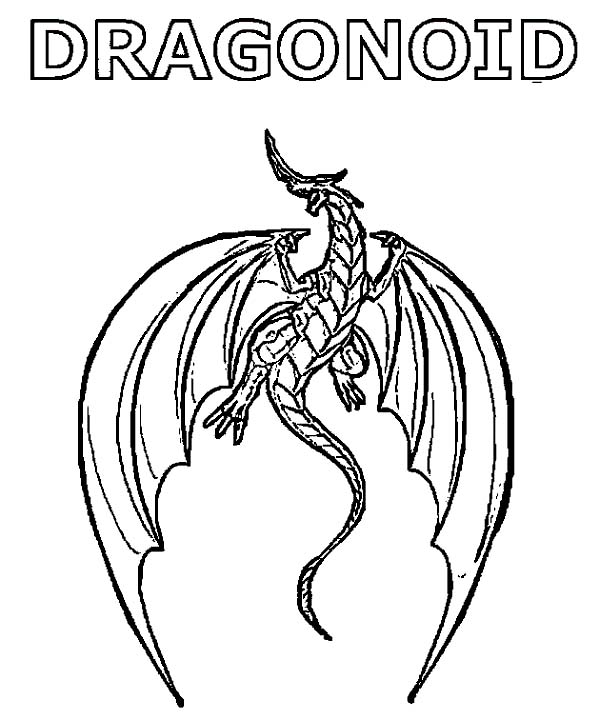 Bakug, : Bakug Dragonoid Coloring Pages