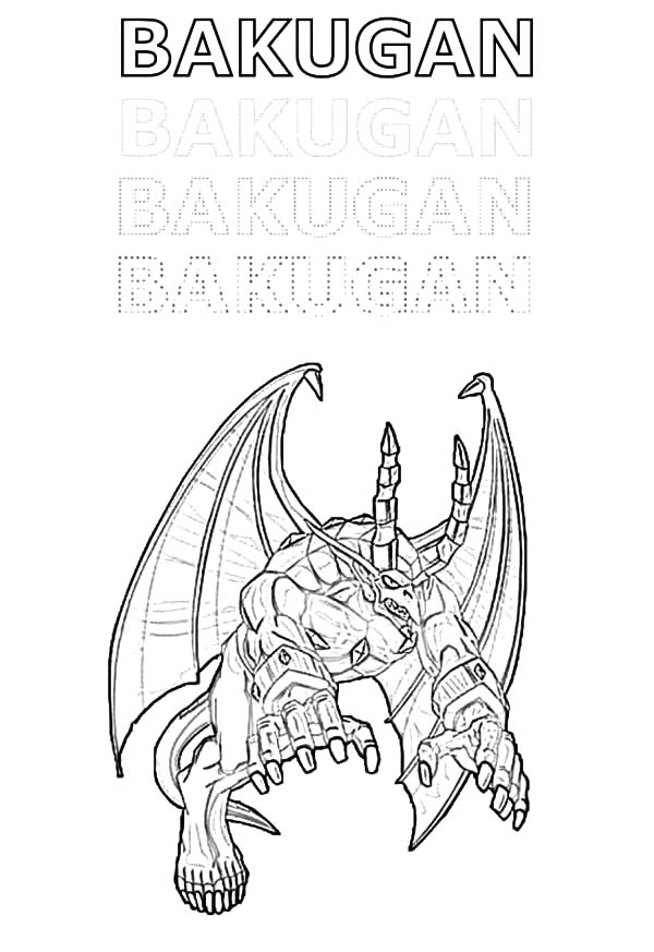 Bakug, : Bakugan Bakug Coloring Pages