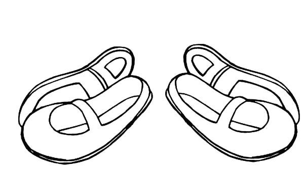 Ballerina Shoes, : Ballerina Shoes for Kids Coloring Pages