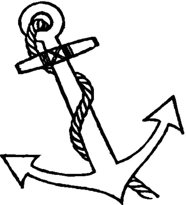 Anchor, : Boat Anchor Coloring Pages